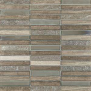 Cordoba Grey Linear 0.6 x 4 Mosaic 12 x 12 Sheet