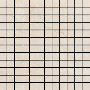 Crystal Cream Glossy 1 X 1 Mosaic 12 X 12 Sheet