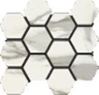 Italia Natural Hexagon Mosaic 12 X 14 Sheet