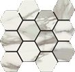 Italia Polished Hexagon Mosaic 12 X 14 Sheet