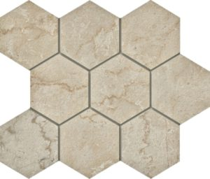 Marmi Botticino Hexagon Mosaic 12 X 12 Sheet