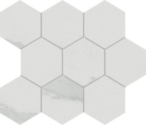 Marmi Calacatta Hexagon Mosaic 12 X 12 Sheet