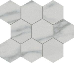 Marmi Statuario Hexagon Mosaic 12 X 12 Sheet