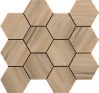 Paint Stone Beige Hexagon Mosaic 12 X 13 Sheet