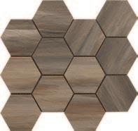 Paint Stone Forest Hexagon Mosaic 12 X 13 Sheet