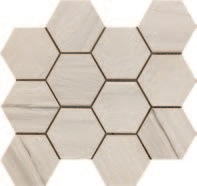 Paint Stone White Hexagon Mosaic 12 X 13 Sheet