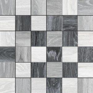 Reserve 2 X 2 Mosaic Cold Mix (Talc + Silver + Ash) 12 X 12 Sheet