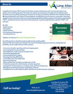 Lang Allan & Company General Services Brochure Cover