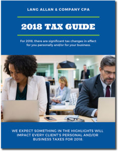 2018 Tax Planning Guide Cover