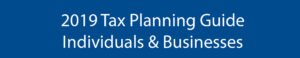 2019 tax planning guide banner