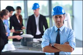 Construction business man