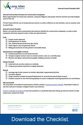 Internal Control Checklist