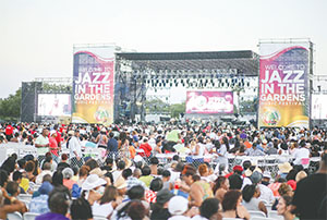Tens of thousands of spectators attended Jazz in the Gardens March 21-22 at Sun Life Stadium in Miami Gardens.(KIM GIBSON/FLORIDA COURIER)