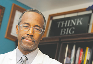 In this file photo, Dr. Ben Carson posed in his office at Johns Hopkins in Baltimore in 2013. (LLOYD FOX/BALTIMORE SUN/MCT)