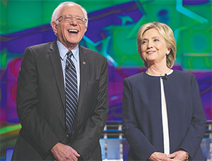 Bernie Sanders and Hillary Clinton shared the debate stage in October 2015 in Las Vegas.(BRIAN CAHN/ZUMA PRESS/TNS)