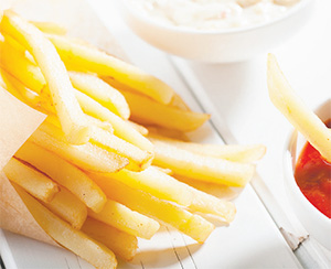 Acrylamide is a chemical that forms in foods cooked at high heat such as french fries and potato chips. (FOTOLIA)