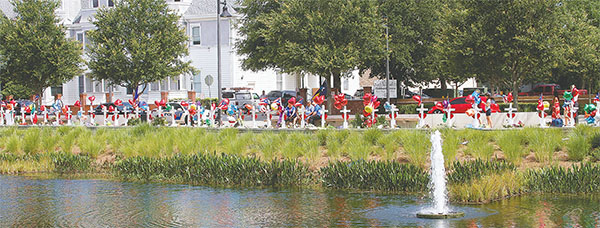 """Crosses in memory of the Pulse nightclub massacre were erected across from Orlando Health's Hubbard House, a """"home-away-from-home"""" for families of patients. (DUANE C. FERNANDEZ SR./HARDNOTTSPHOTOGRAPHY.COM)"""