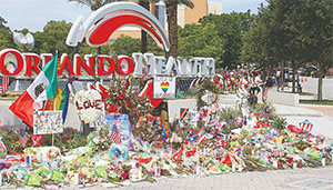 Items left at a memorial in front of a hospital in Orlando shows the overwhelming outpouring of support for the victims of the Pulse shooting.(DUANE C. FERNANDEZ SR./HARDNOTTSPHOTOGRAPHY.COM)