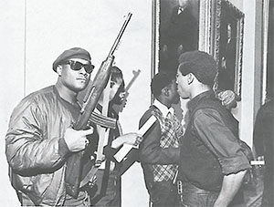 Members of the Black Panthers are shown during the group's protest at the California Assembly in May 1967 in Sacramento, California.(SACRAMENTO BEE/TNS)