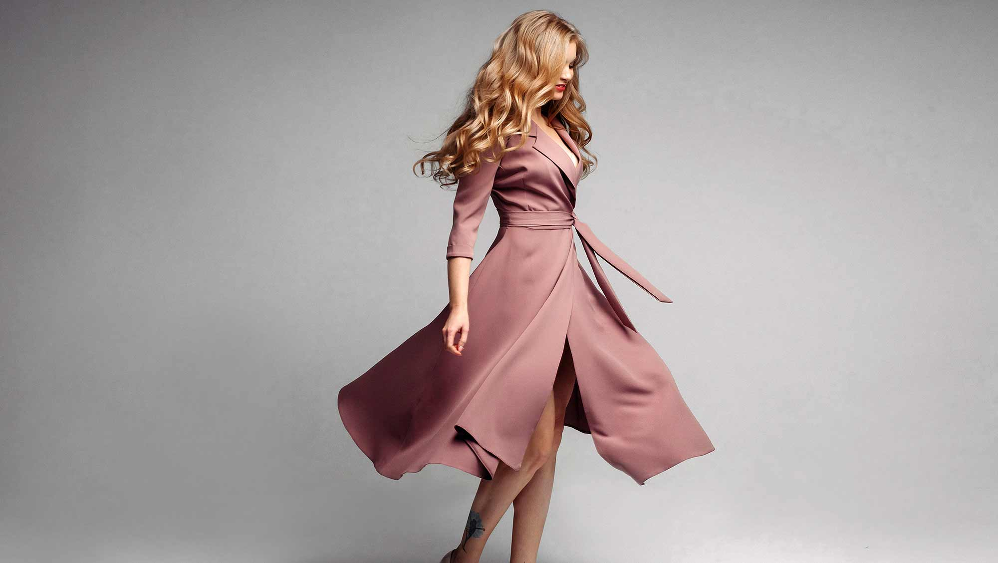 green dry cleaning dresses