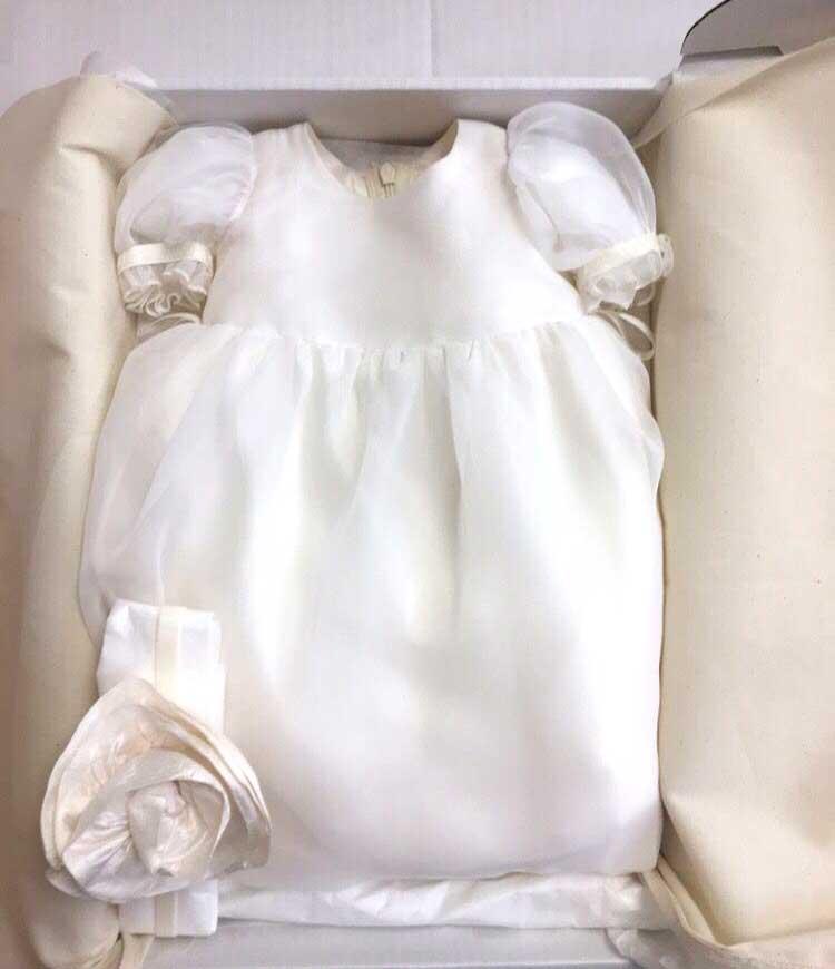 baptism dress preservation
