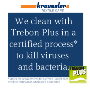 CERTIFIED CLEANING PROCESS TO KILL VIRUSES AND BACTERIA