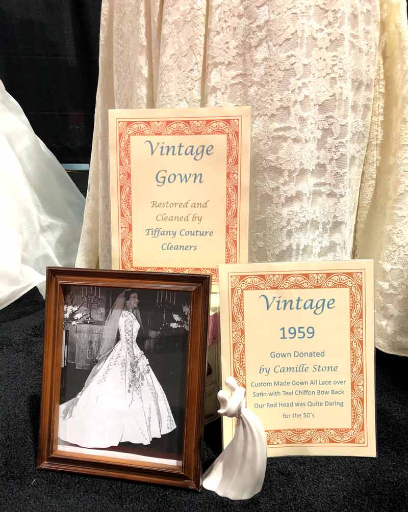 vintage wedding gown cleaning and restoration