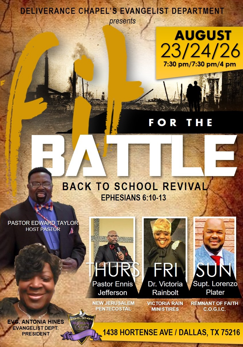 Fit for the Battle – Back to School Revival