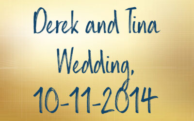Derek and Tina Wedding, 10-11-2014