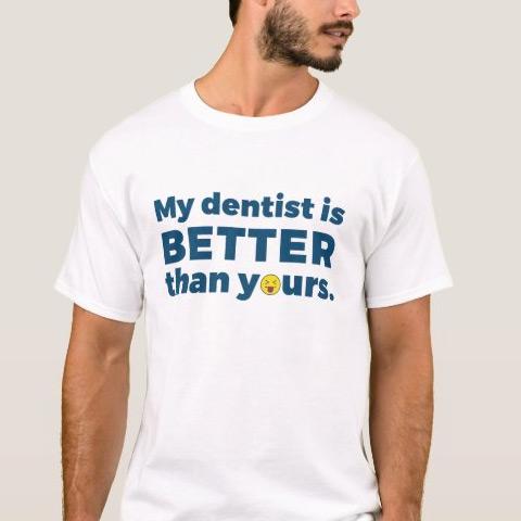 Man-Wearing-Dentist-Shirt