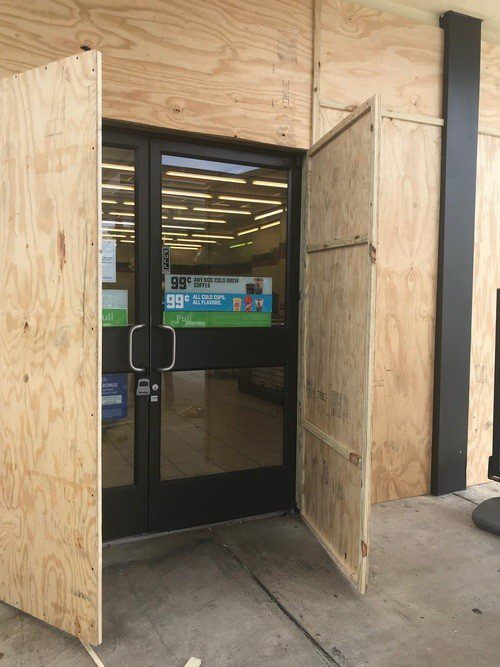 board ups emergency glass repair and board up services