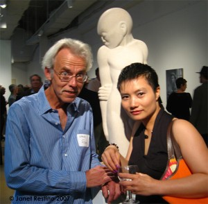 Steve Flom and partner Sally Li Mai at the PAFA show