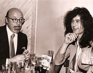 Ahmet Ertegun and Jimmy Page of Led Zeppelin