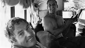 "Dr. Timothy Leary and Neal Cassady of ""On the Road"" fame were ""on the bus."""