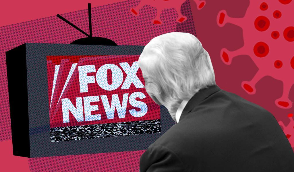 Image suggests President Trump's obsession with Fox News.