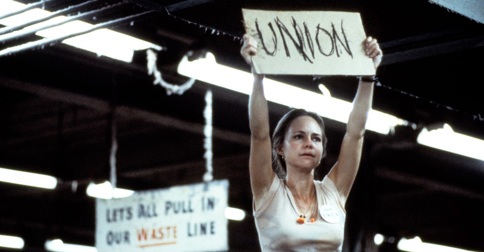 """Sally Field in the movie """"Norma Rae."""""""