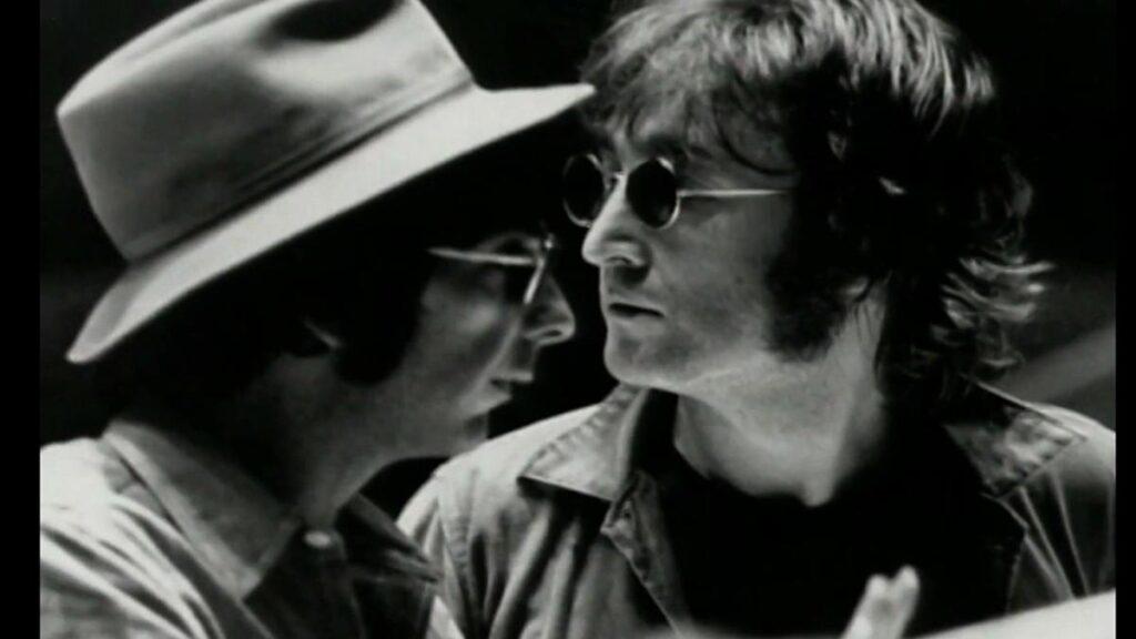 Phil Spector and Beatle John Lennon around 1970.