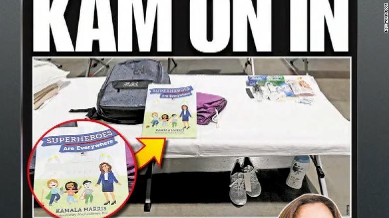 Montage of NY Post's smear of VP Kamala Harris.