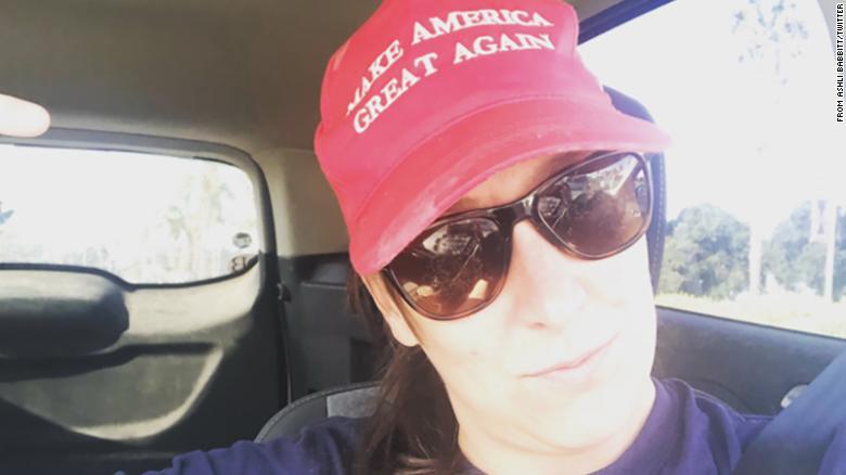 Ashli Babbitt with MAGA hat