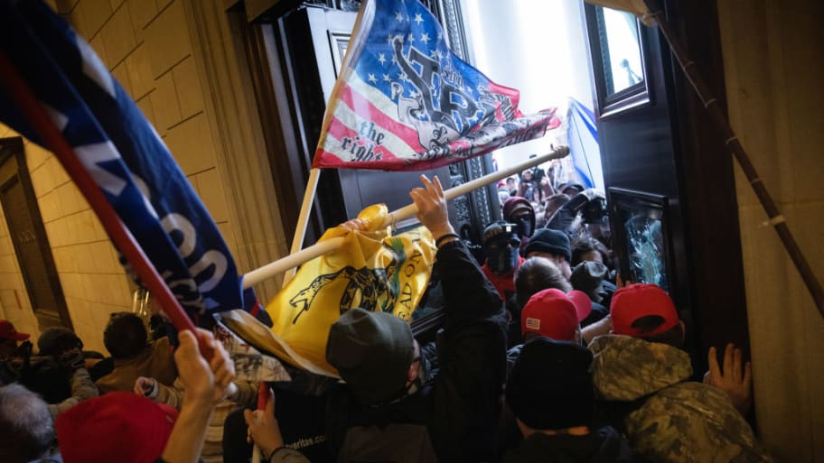 Scene from the Jan. 6 insurrection on the Capitol.