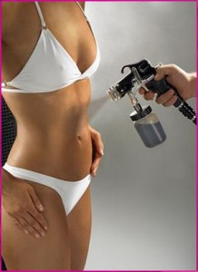 Find a local airbrush artist for the perfect sunless tan!