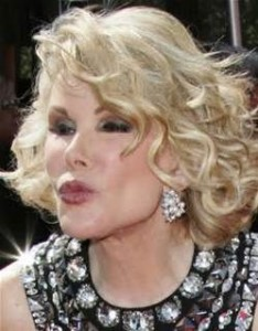 """""""I've had so much plastic surgery, when I die they will donate my body to Tupperware."""" Joan Rivers"""