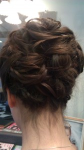Kevin worked his magic to create this romantic updo