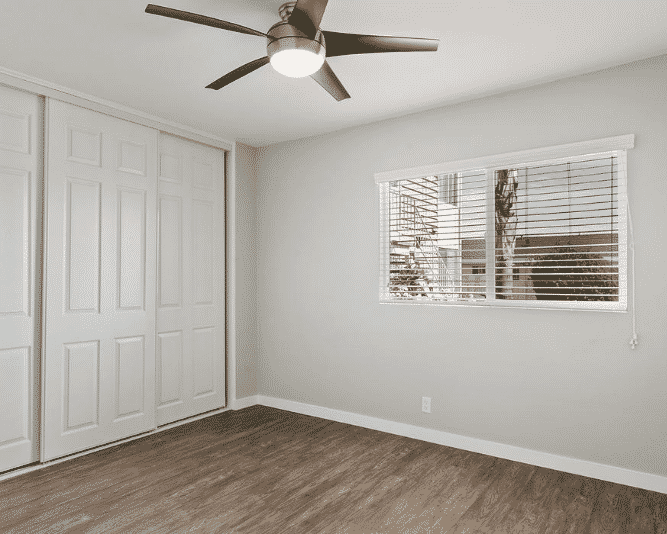Natural light and Ceiling fan on bedroom