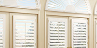 window treatments, Wooden Blinds arches