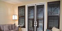 Sliding Panel Blinds, Wood Blinds plantation shutters