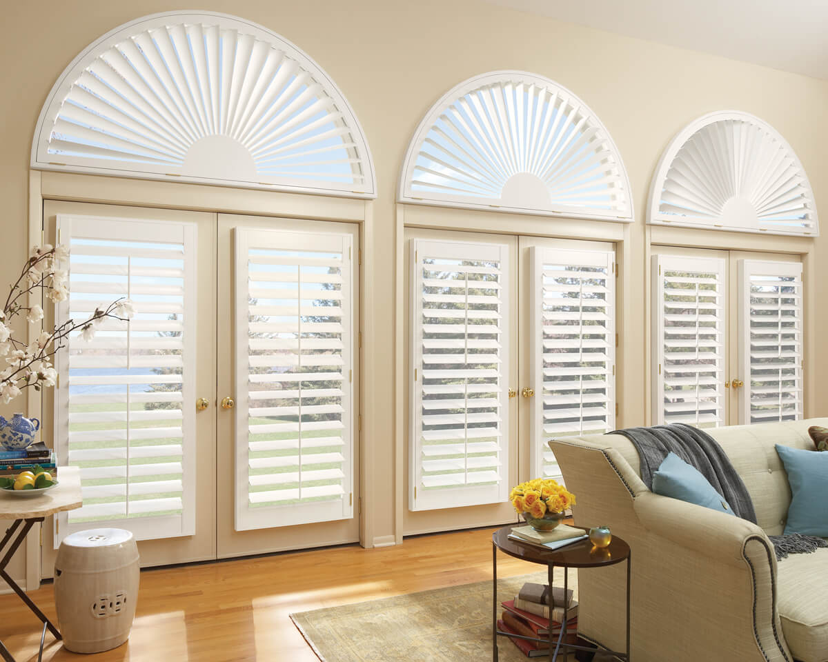 Window shutters arches blinds