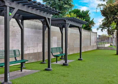 Beachwood Apartments pergola seating