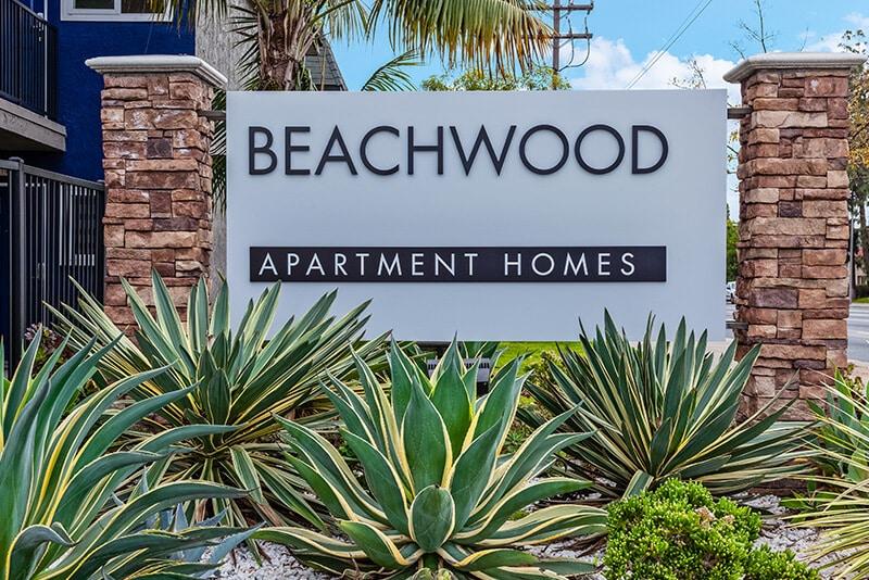 Beachwood Apartment Homes Monument Sign