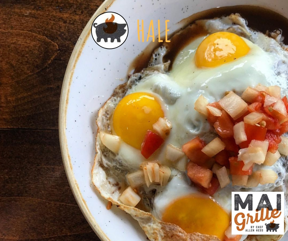 mai grille kings land best bacon loco moco